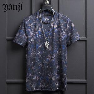 短袖t恤男士韩版潮流圆领半袖夏季青年宽松大码嘻哈休闲印花体恤