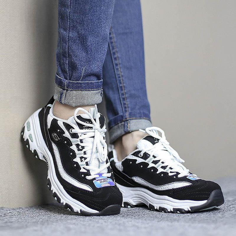 a167238d Skechers D'lites SKECHER Panda shoes for men and women trend sports shoes  99999069BKW