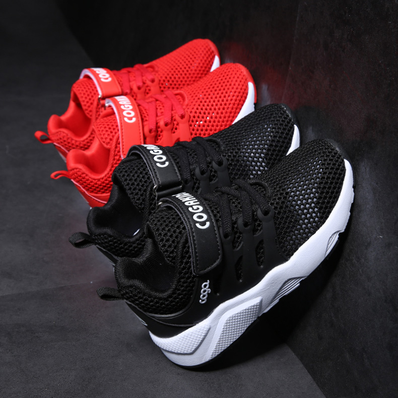 Boys sports shoes children 2018 new children's shoes spring big boy summer breathable hollow single mesh shoes