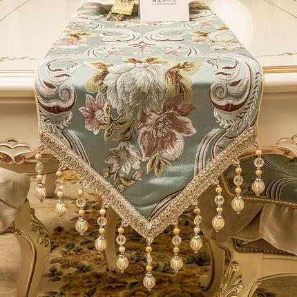 帕格尼 欧式奢华桌旗 布艺绣花西餐桌布茶几旗