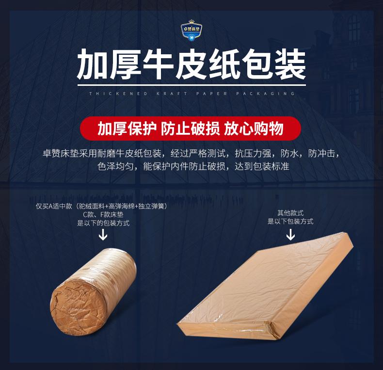 席梦思床垫厚米家用乳胶独立弹簧椰棕垫软硬两用软垫详细照片