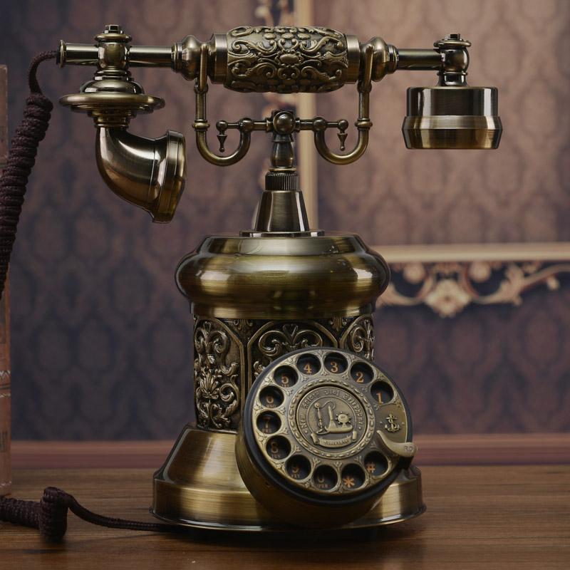 โทรศัพท์บ้านโบราณสไตล์วินเทจ แบบหมุนตกแต่งบ้าน คอนโด ที่ทำงาน ร้านสไตล์หลุยส์ - พรีออเดอร์AA04 ราคา 4900 บาท