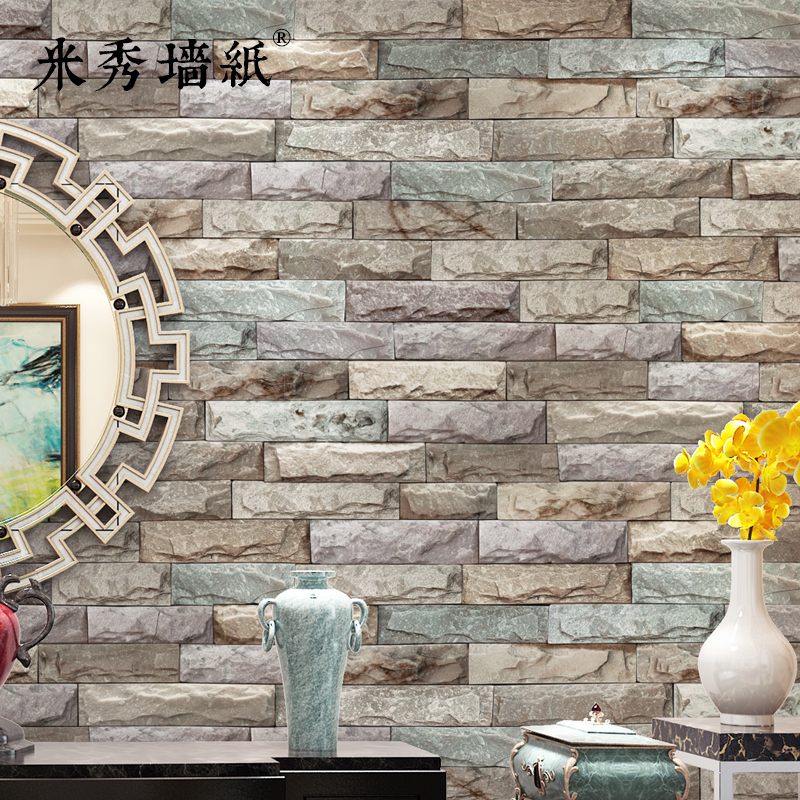3D Brick Wallpaper Culture Brick Imitation Marble Stone Living Room  Background Wall Brick Antique Brick Wallpaper