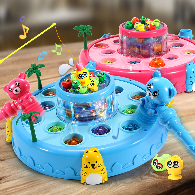 1-2-3 years old one-year-old one-child boys and girls girl puzzle two 6 children fishing toy set magnetic