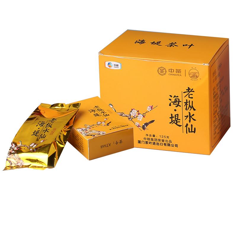 海堤茶叶乌龙茶岩茶老枞水仙 喜上眉梢AT668足火浓香12.5克*10包