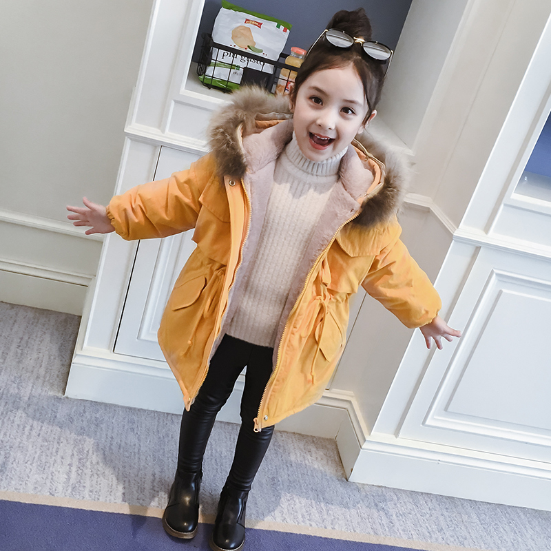 Girls cotton clothing winter clothing 2019 new Korean version of the foreign gas jacket children's girls plus thick children's down cotton clothing