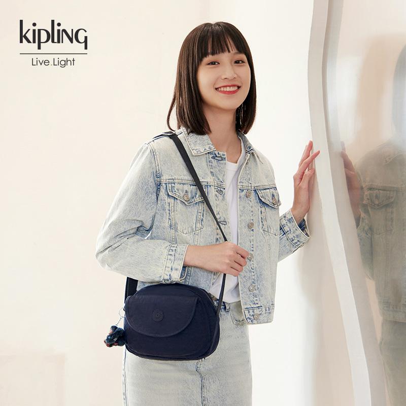 【主播推荐】kipling女款轻便帆布可爱单肩贝壳包斜挎包|STELMA