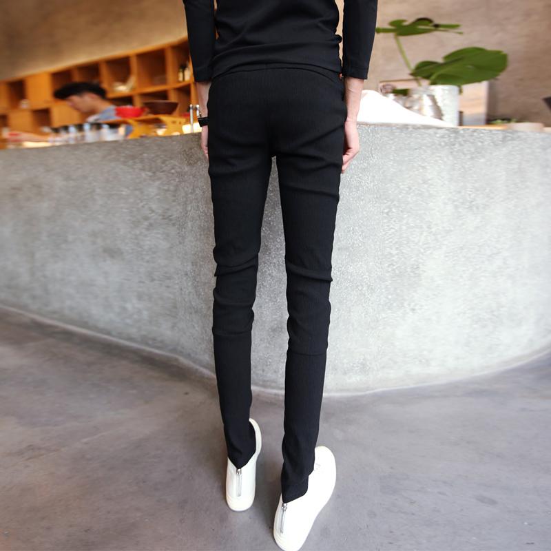 汉佳欧斯男士休闲裤紧身韩版小脚裤修身西装裤发型师裤子潮男西裤