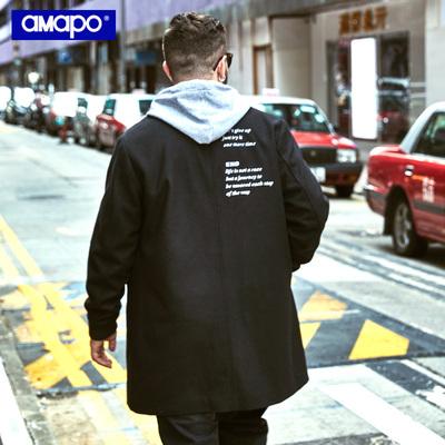 AMAPO tide thương hiệu lớn kích thước của nam giới chất béo cộng với phân bón để tăng lỏng hip hop áo len áo giản dị nam triều Áo len