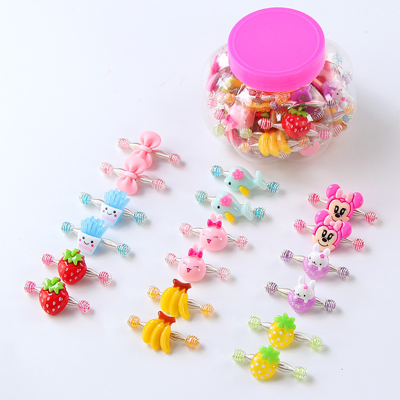 10 pairs of Korean children's spring pull-up clips princess girls card cute cartoon clip baby girl