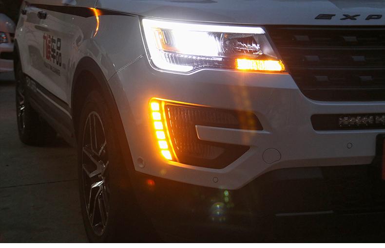 Độ đèn led ngày  tích hợp  đèn báo rẽ xe Ford Explorer 2016 - 2019 - ảnh 15