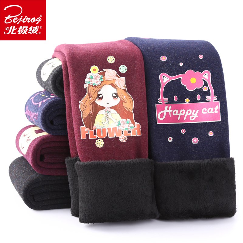 Children's leggings girls wear 2018 autumn new out wearing spring and autumn winter clothes female baby plus velvet thick cotton pants