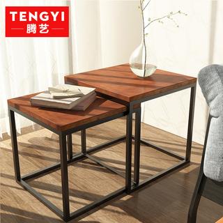 Комплекты,  Площади американский крышка несколько дерево мини квадратный стол кофейный столик простой современный гостиная диван сторона железо угловой, цена 2302 руб