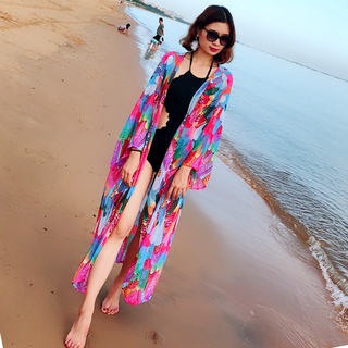 Парео,  Крышка мясо тонкий шифон песчаный пляж юбка завернуть юбка мантильи бикини кардиган купальный костюм иностранных взять праздник солнцезащитный одежды шаль, цена 850 руб