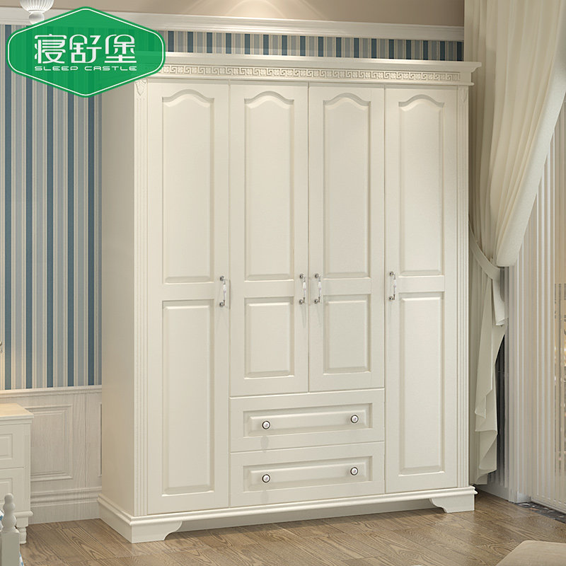 Sleep Shu Fort Korean Wardrobe Past Solid Wood European White Wooden Four Children S