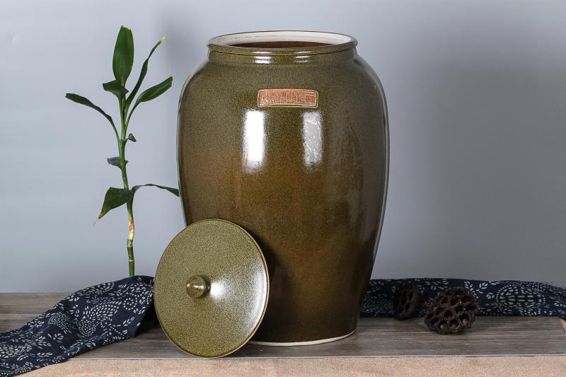 包邮陶瓷米缸油缸20斤50斤米缸密封防虫大米面粉装米桶储米箱家用