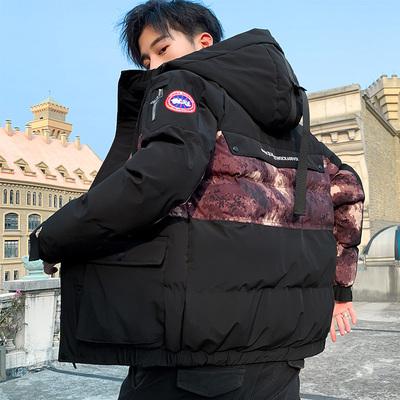 棉袄男2019新款冬装立领中年男士棉衣修身短款保暖羽绒外套男加厚