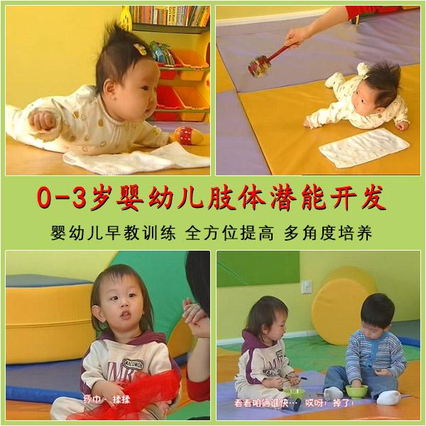 0-3岁婴幼儿肢体潜能开发 亲子游戏体验早教训练教材