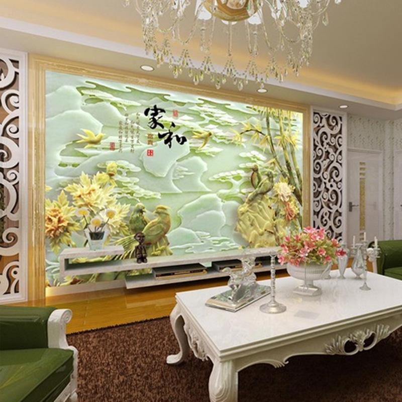 3D卧室背景墙文化石瓷砖壁画雕刻电视背景瓷砖艺术瓷砖地砖客厅