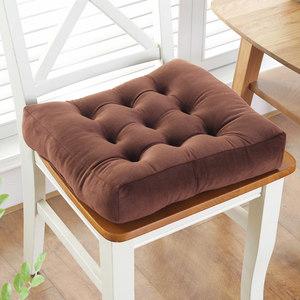 防滑棉花坐垫椅垫学生加厚榻榻米屁股垫教室方形凳子坐垫布艺毛绒