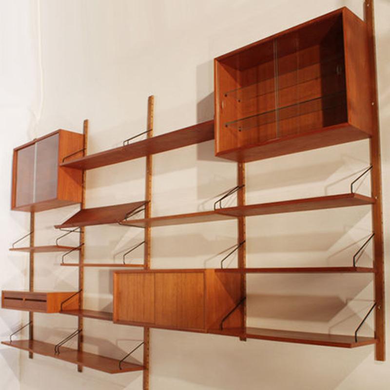 浮愫中古/模块化置物架 北欧丹麦复古吊墙柜置物柜餐边柜MCM风格