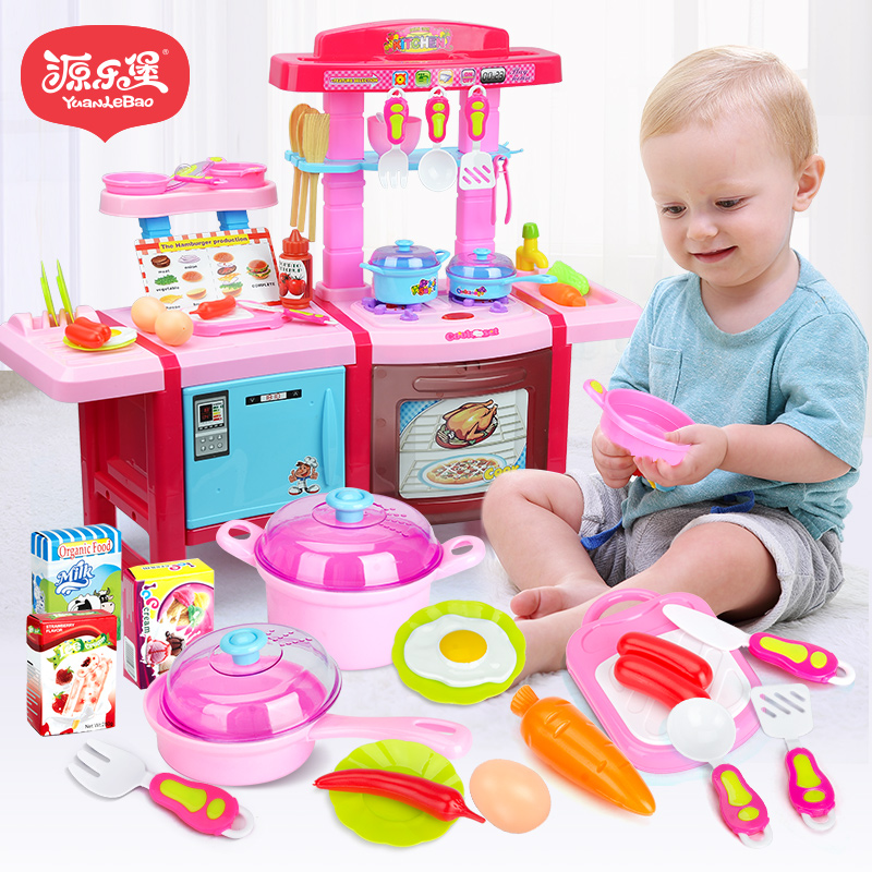 Usd 34 74 Children Play House Kitchen Set Simulation Kitchen 3 Baby