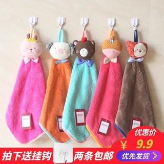 Полотенца разные,  Коралл полотенце применять рука ткань висит стиль мультики милый маленький носовой платок полотенце кухня ванная комната сассафрас полотенце, цена 111 руб