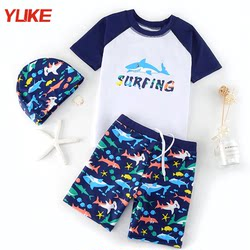 Children's Swimsuits, Boys' Split, Big Kids, Babies, Infants, Little Boys Sunscreen Swimwear, Student Swimwear Suit