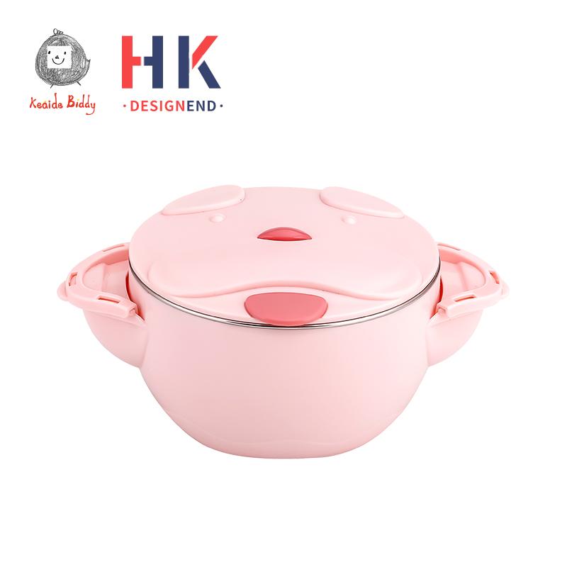 儿童注水保温碗宝宝餐具套装婴儿碗勺辅食碗 吃饭防摔316不锈钢碗