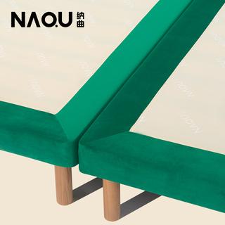Кровати,  NAQU принимать песня простой деревянные кровати бархат татами лист пара людей человек 1.8 метр 1.5 метр сращивание кровать сын, цена 8829 руб