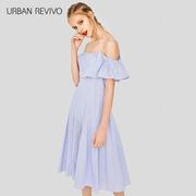UR2018 mùa xuân và mùa hè mới thanh niên của phụ nữ khâu nhiều lớp bông X váy YU11S7ET2000