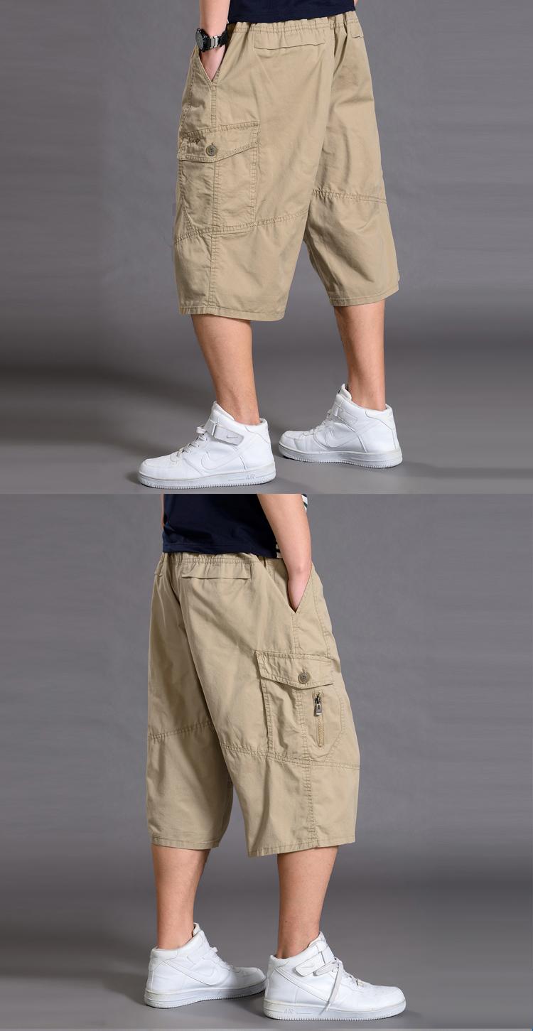 Thể thao mùa hè cắt quần quần short nam lỏng lẻo 7 điểm dụng cụ quần cộng với phân bón XL chất béo giản dị phần mỏng