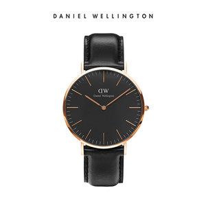 新品DanielwellingtonDW男士手表丹尼尔惠灵顿时尚黑表简约石英表