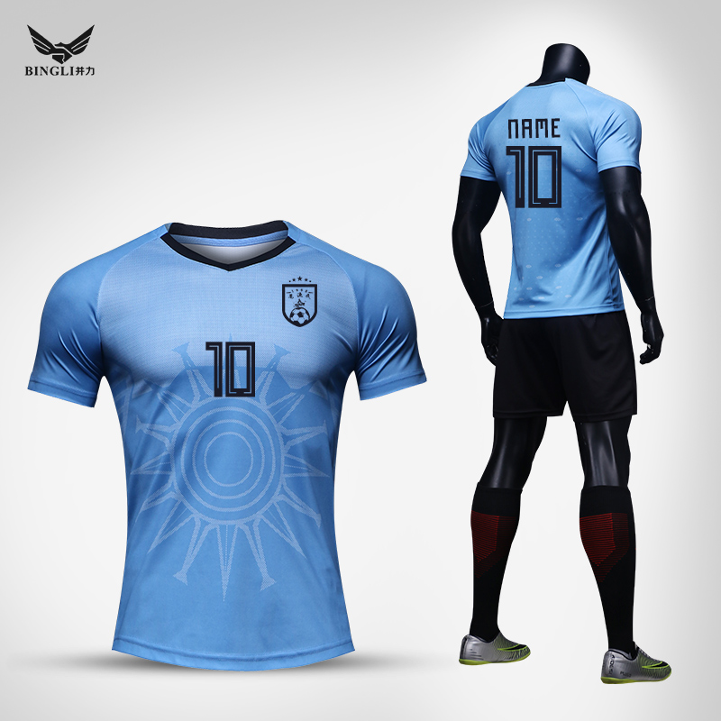 new concept 10781 3a853 Uruguay jersey 2018 national team football jersey men 9 Suarez Cavani  training clothes buy print