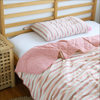 Check Stripe Pure Cotton Air Conditioning Quilt Washed Cotton Summer Cool Quilt Cotton Washable Thin Quilt Spring and Autumn Quilt Specials