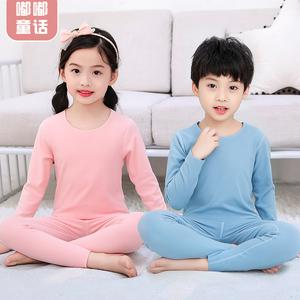 【嘟嘟童话】儿童无痕加绒保暖内衣套装