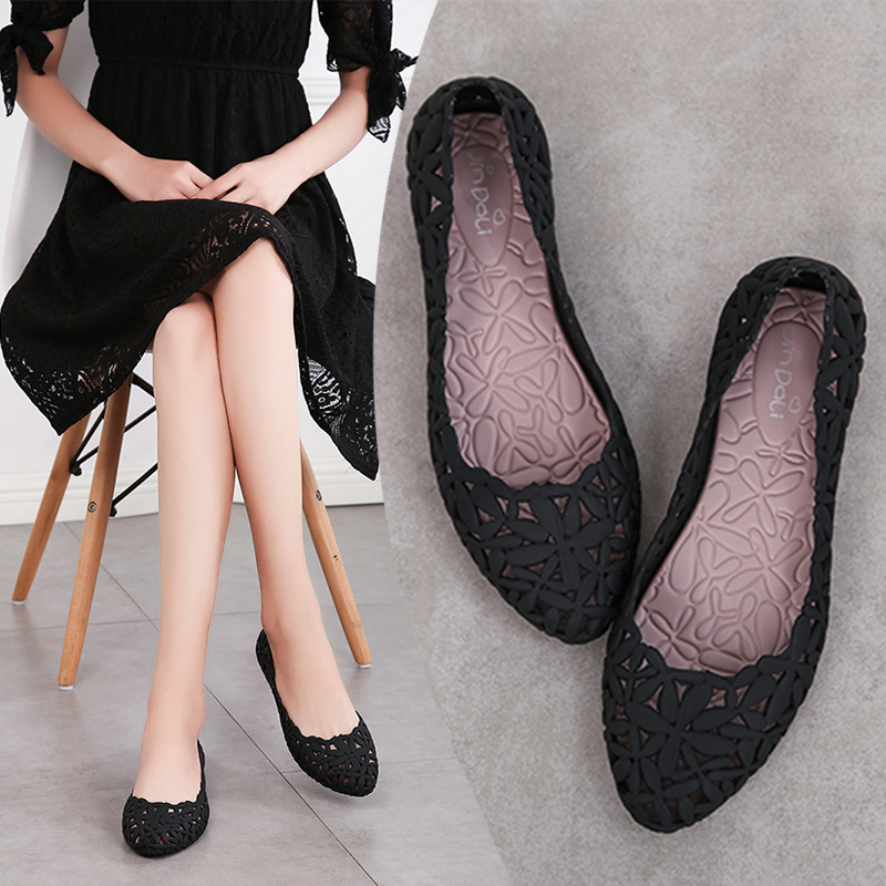 475b8d75cfbc 2019 new bird s nest hit color jelly shoes sandals women summer flat  breathable plastic shoes travel · Zoom · lightbox moreview · lightbox  moreview ...