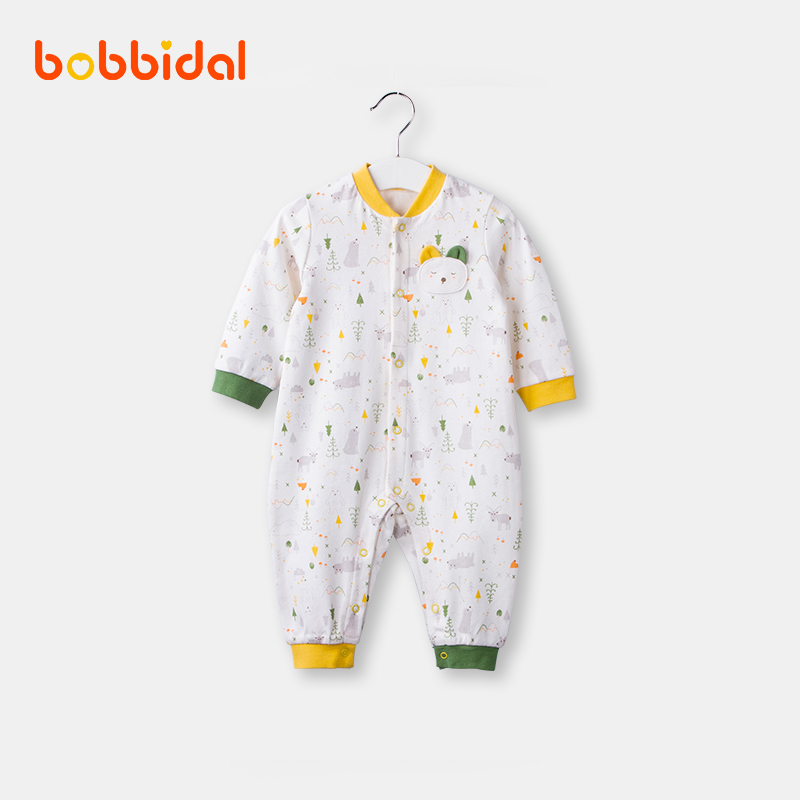 8adf01d4d2299 0-3 months baby Siamese clothes cotton autumn models newborn baby  long-sleeved go out boys and girls 1-2 years old climbing clothing
