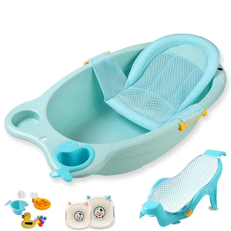 Baby bath newborn can sit lying round baby bath tub large children ...