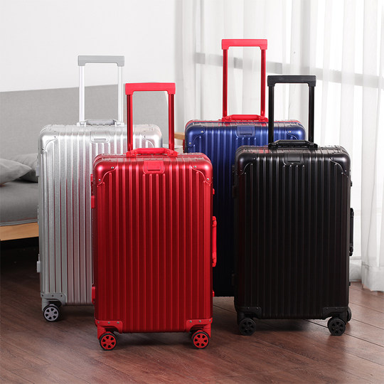 All aluminum magnesium alloy trolley box universal wheel trunk men and women 24 password boarding 20 inch hard box suitcase