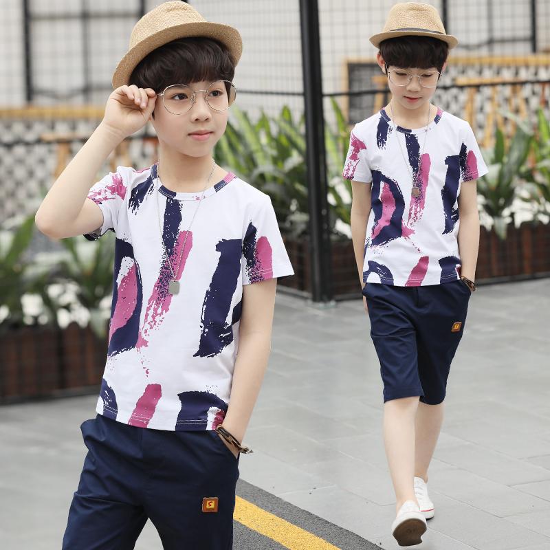男童套装纯棉2019新款韩版