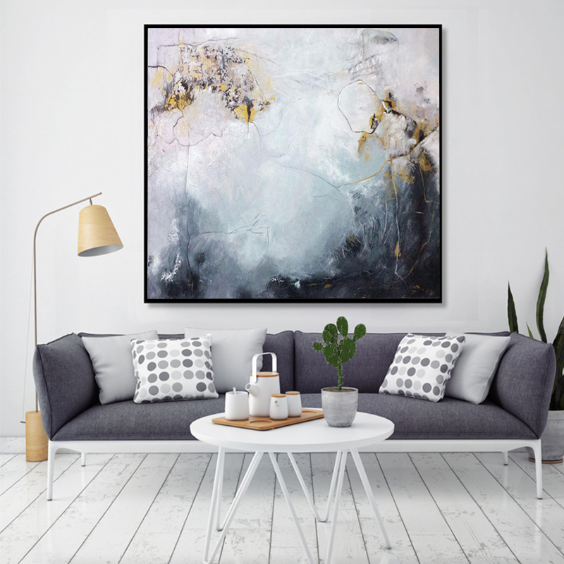 Pure hand-painted oil painting modern minimalist abstract office paintings  living room decoration painting sales office murals light luxury atmosphere