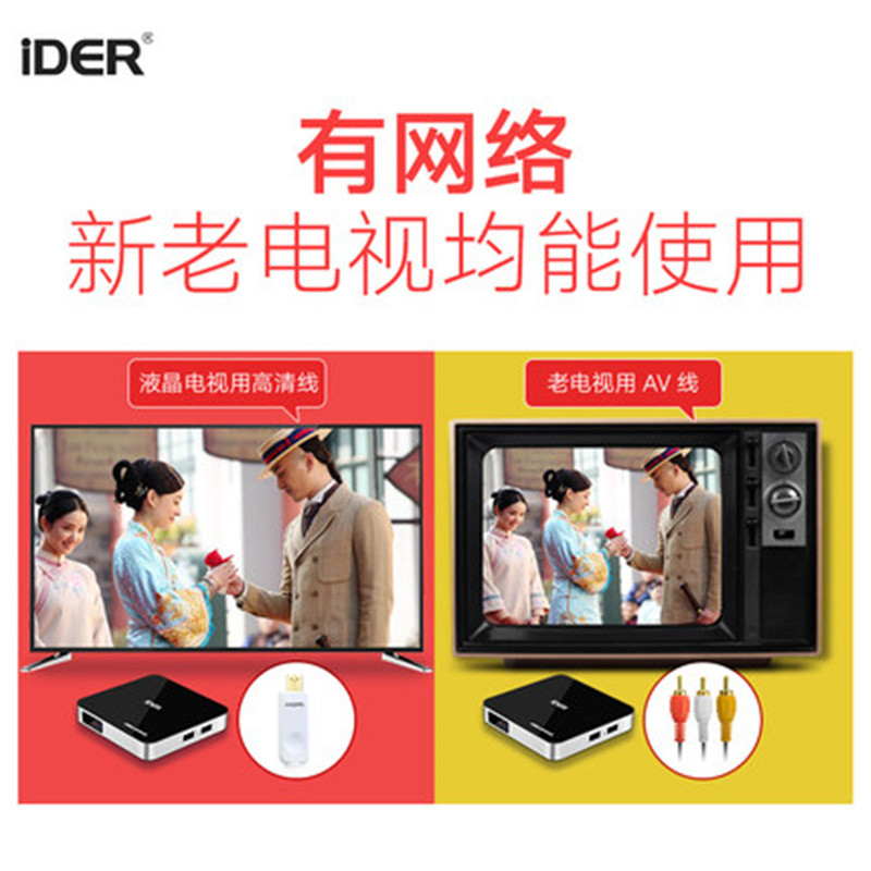 IDER / Yi Dian Q7 mạng TV set-top box HD player home Android TV box