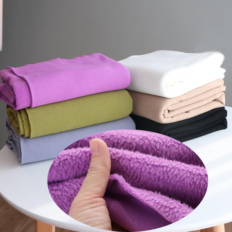 Cộng với chất liệu nhung len dệt kim dày của Mỹ, mùa đông ấm áp và ấm áp, mặc quần áo vải lớn chất liệu quần áo DIY - Vải vải tự làm