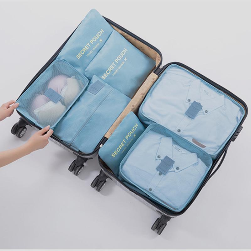 收纳旅行袋行李箱衣物衣服旅游鞋子内衣收纳包整理袋套装7件套