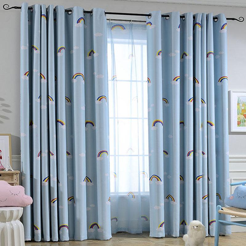 Голубой цвет Радуга - драпировка