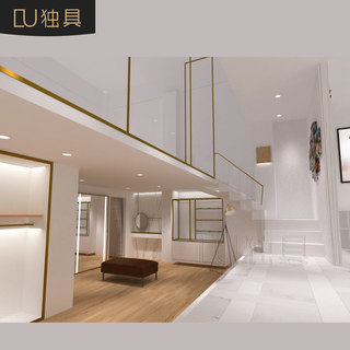 Unique clothing in stores decoration design floor plan design renderings Women shelf display rack