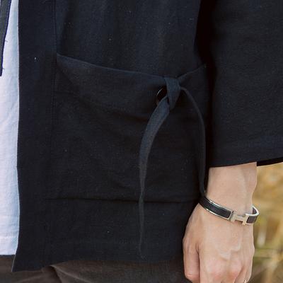 Nhật bản retro phong cách kimono robe áo gió phong cách Trung Quốc đoạn ngắn nam sinh viên bình thường Hàn Quốc phiên bản của xu hướng áo khoác mỏng áo Áo gió