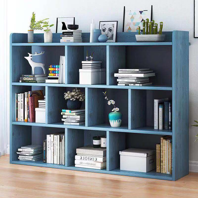 Simple bookshelf bookcase floor-to-ceiling shelf student bookcase combination simple modern bookcase dogged cabinet lockers