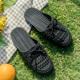   Цена 971 руб   Чалма сандалии женщина лето фея ветер 2020 новый лето отверстие обувь мода квартира ins приток модное платье сандалии